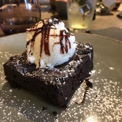 Chocolate brownie Vanilla ice cream