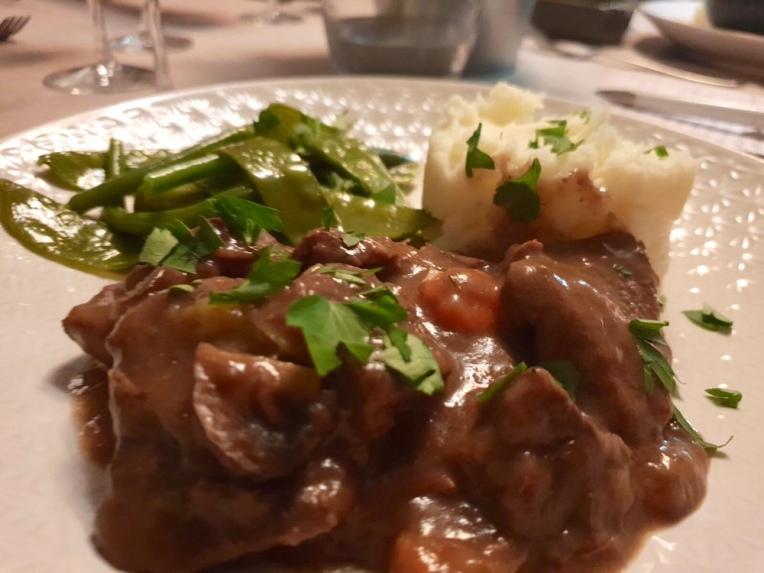 Boeuf bourguignon and mash potato