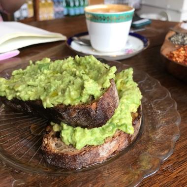 Avo on organic sourdough & rye toast
