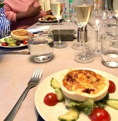 Quiche Lorraine and salad at AllChefs Ltd