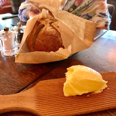 Sourdough bread with spreadable butter