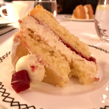 A slice of Traditional Victoria Sponge