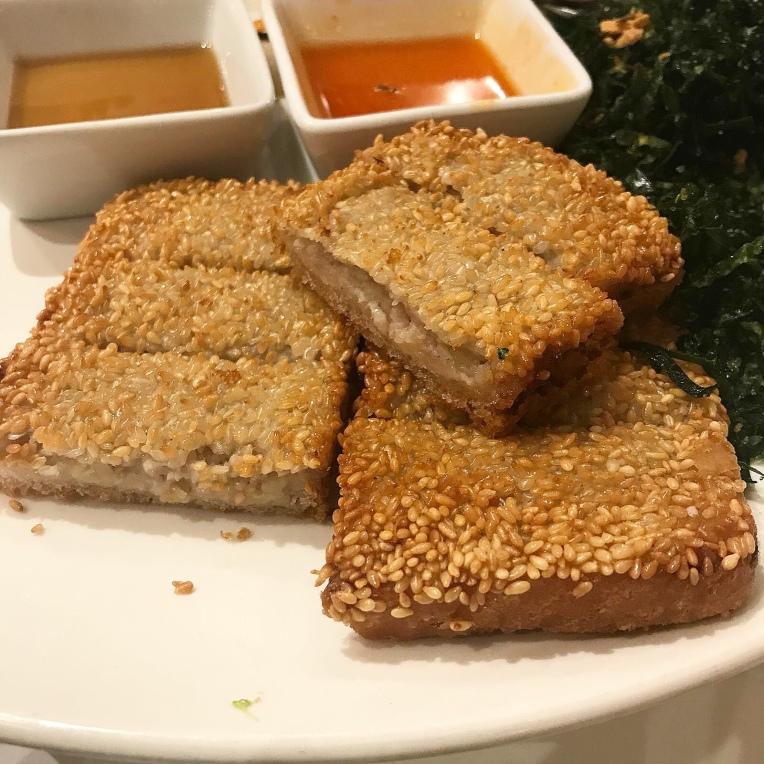 Sesame Taro Toast