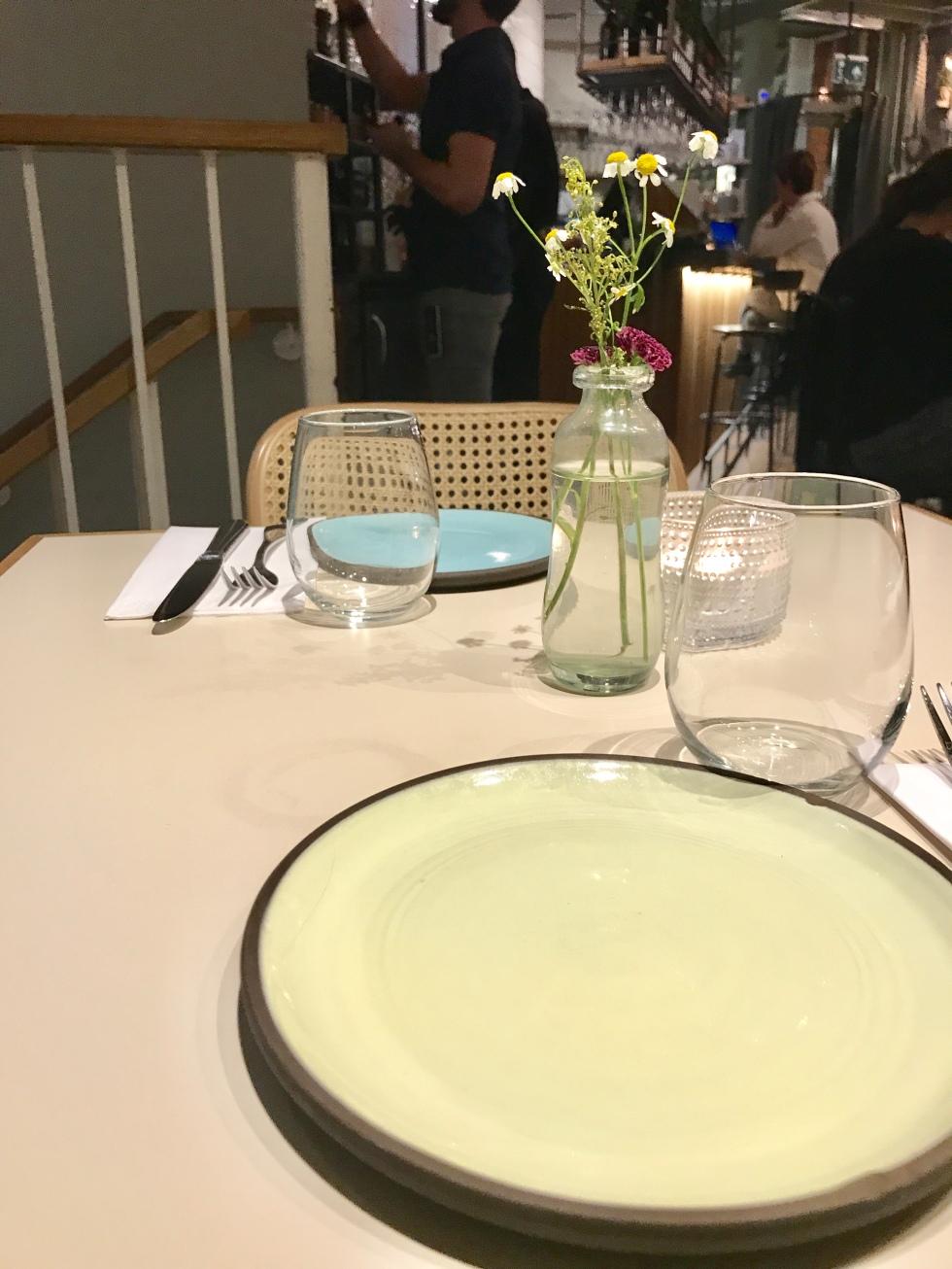 Dining at Delamina Marylebone