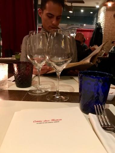 English menu at Comme Chez Maman