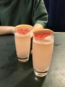 Au revoir Shoshana – Beefeater Gin, Pink Grapefruit & Rose Sherbet, Lemon Juice, Sumac Tincture, Soda Water