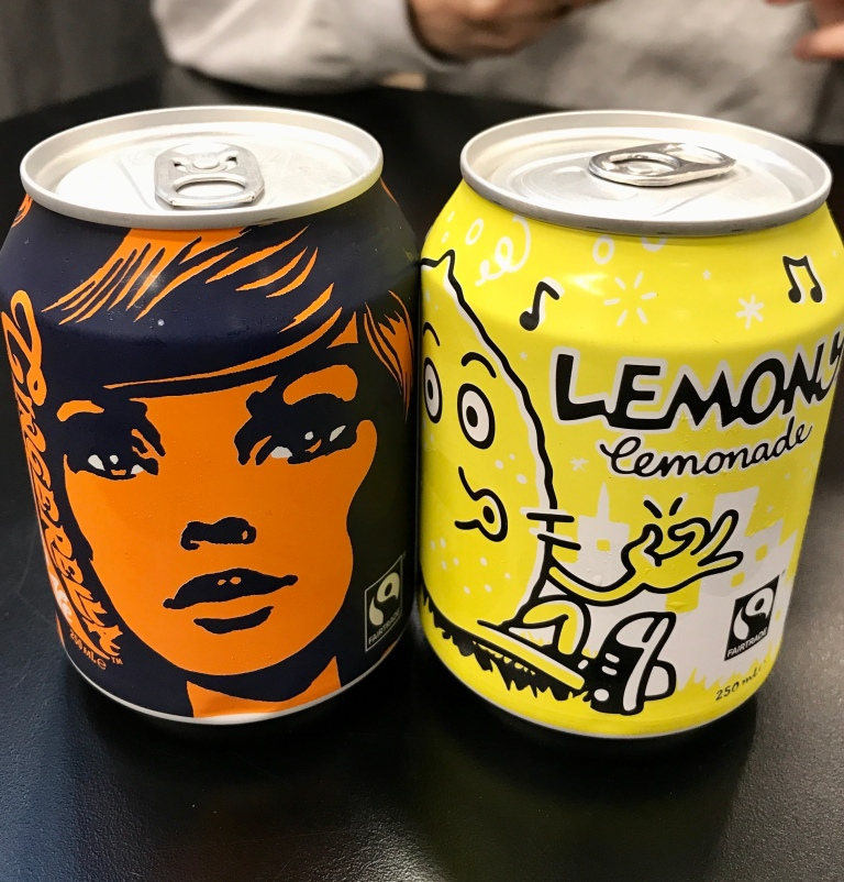 soft drinks lemony lemonade and Gingerella Ginger Ale