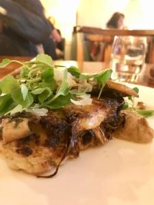 Salt baked cauliflower, truffled woodland mushrooms, Berkswell cheese