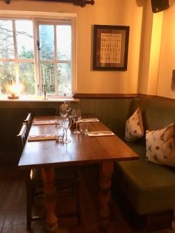 Table setting at The Greene Oak