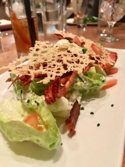half freshly prepared lobster. Crispy bacon. Parmesan crisp. Avocado Caesar (£7 surcharge)