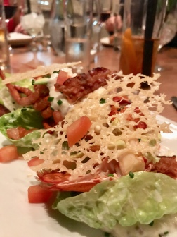 half freshly prepared lobster. Crispy bacon. Parmesan crisp. Avocado Caesar