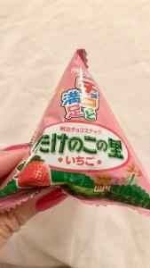 Meihi Takenoko No Sato Strawberry Chocolate Biscuits