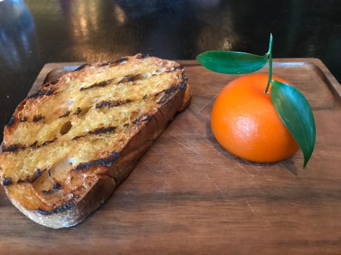 Meat Fruit (c. 1500) Mandarin, chicken liver parfait & grilled bread