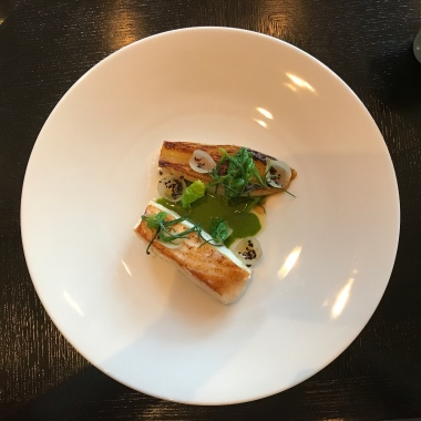 Roast Turbot & Green Sauce (c. 1440) Braised chicory, parsley, pepper, onion & eucalyptus