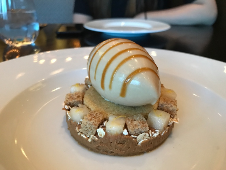 Brown Bread Ice Cream (c. 1830) Salted butter caramel, pear & malted yeast syrup
