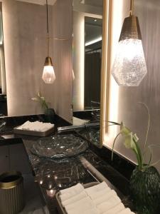 Ladies washroom at Dinner By Heston Blumenthal'