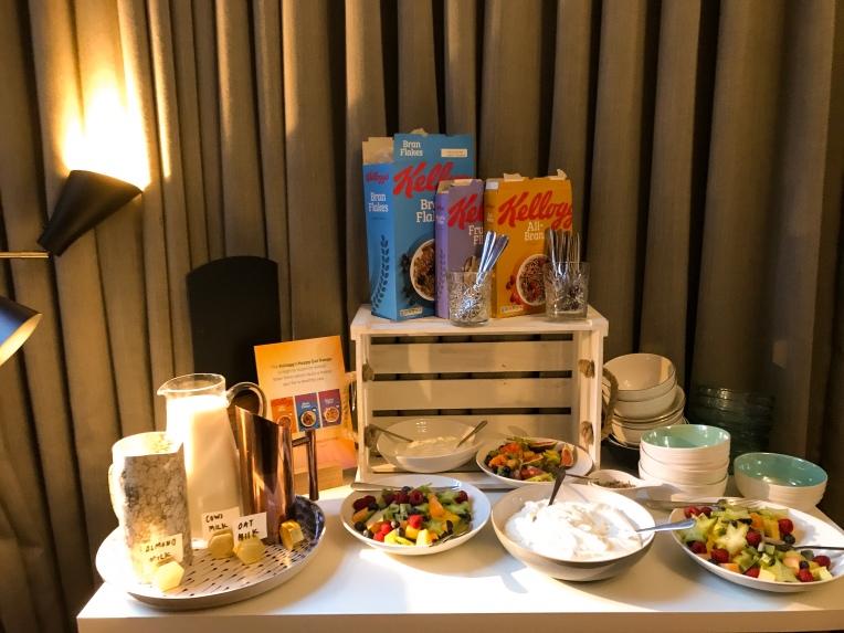 All-Bran relaunch event buffet