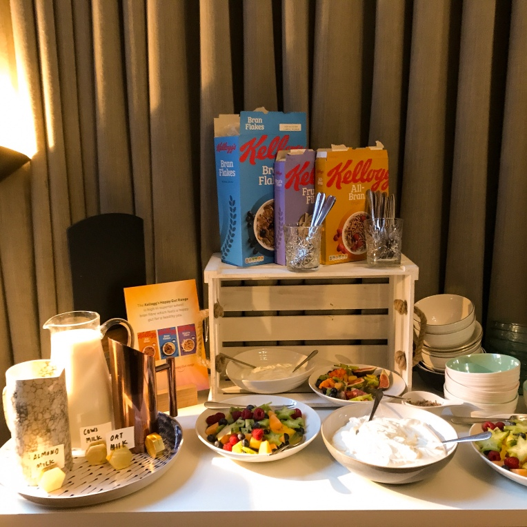 All-Bran relaunch event buffet