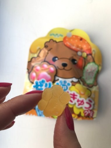 Senjakuame Paw-Shaped Honey Lemon Flavoured Candy with Jelly