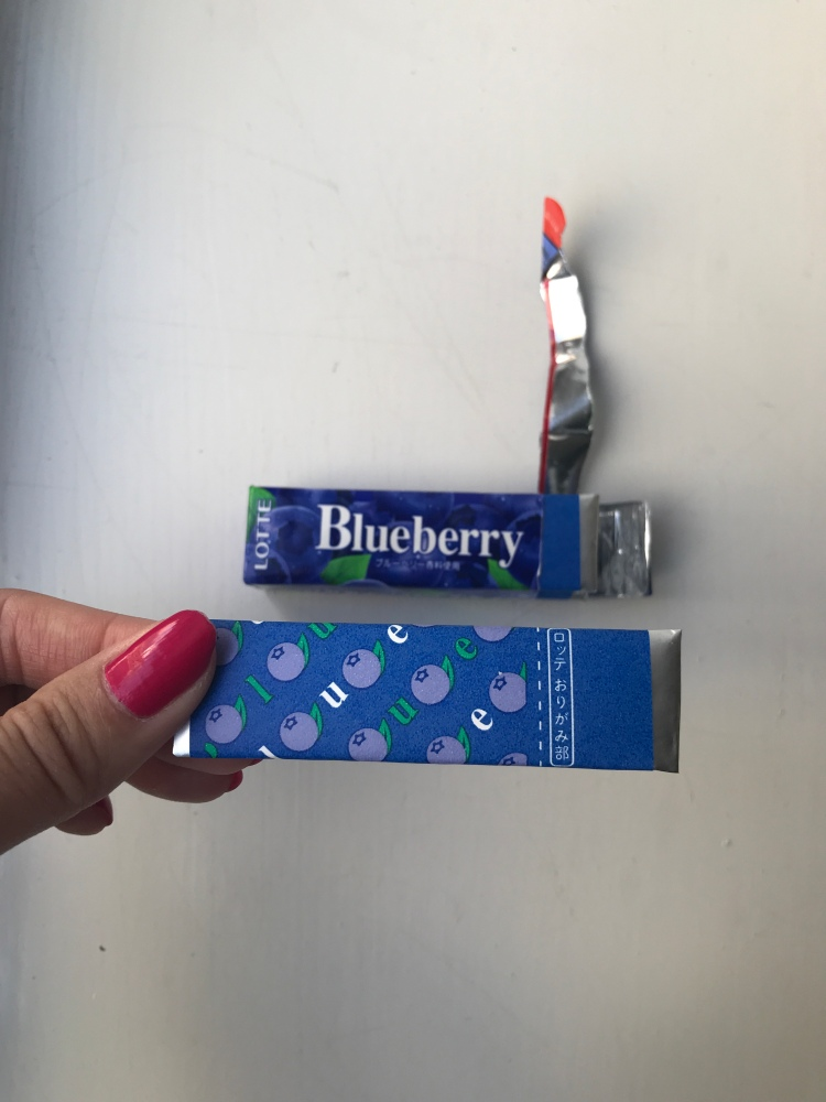Lotte Blueberry Flavoured Gum
