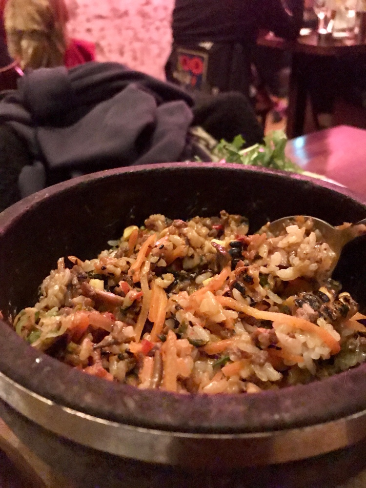 Hot Stone Rice – sesame, chilli and beef