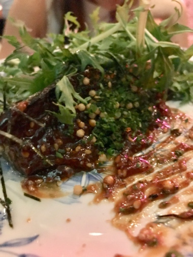 Aubergine – 4 miso – bubu arare