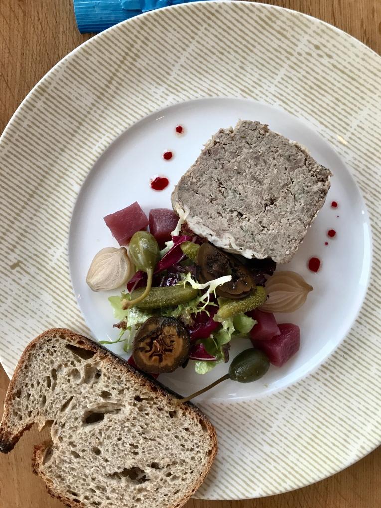 Grandpa Benoit Roux's country pâté & sourdough bread
