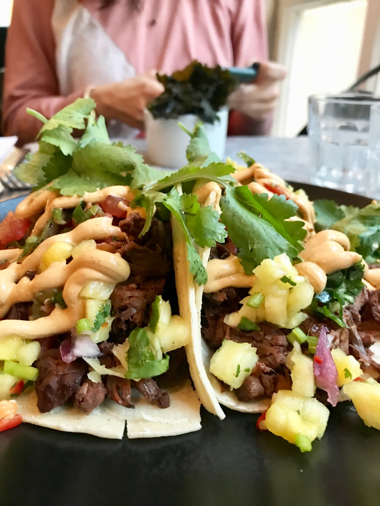 jackfruit tacos with pineapple salsa