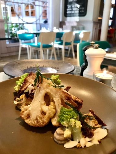 Roasted Cauliflower, date, almond, tarragon