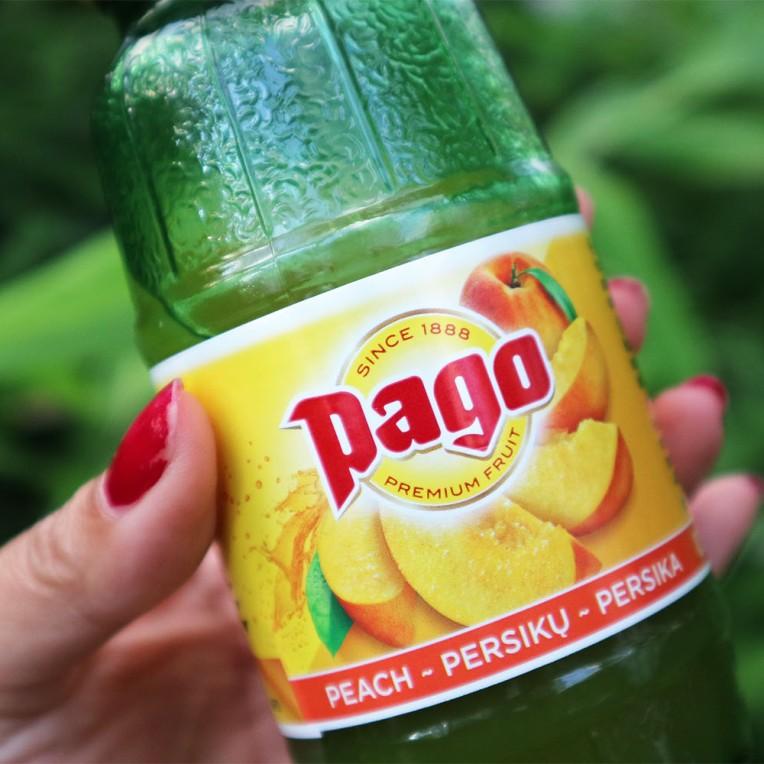 Peach pago fruit juice