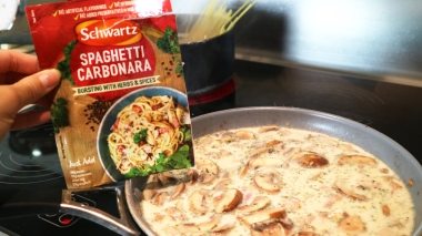 Schwartz Spaghetti carbonara