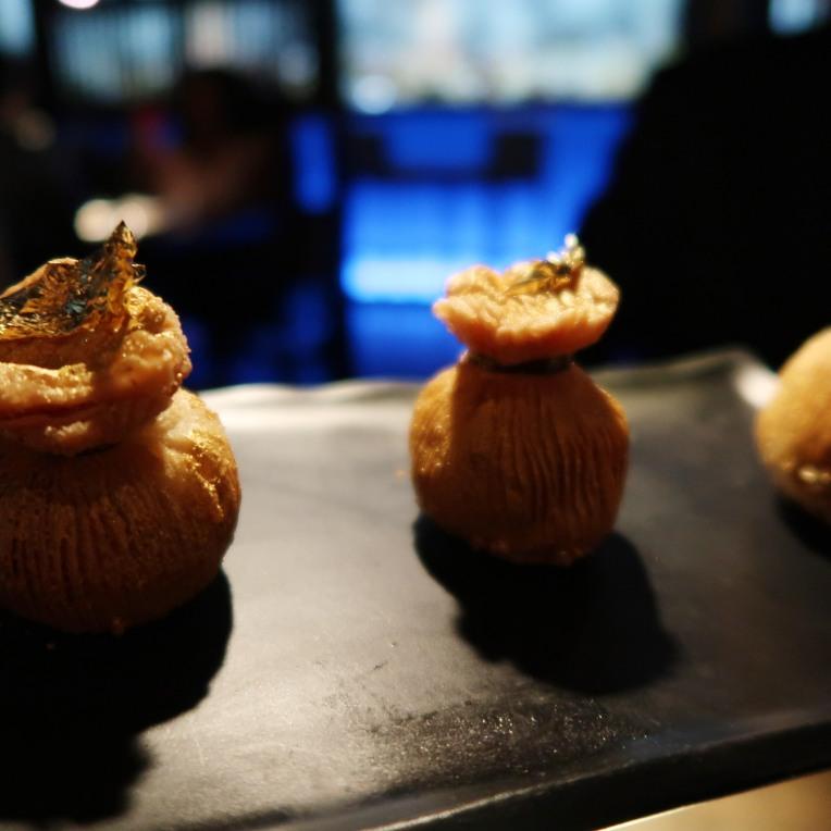 golden treasure pockets abalone, wild mushrooms