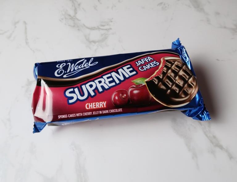 Cherry flavour Jaffa cakes