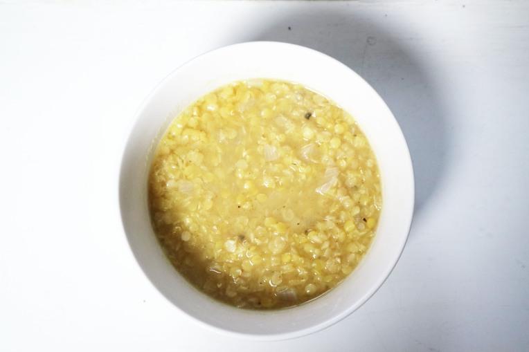 A bowl of tasty red lentil soup