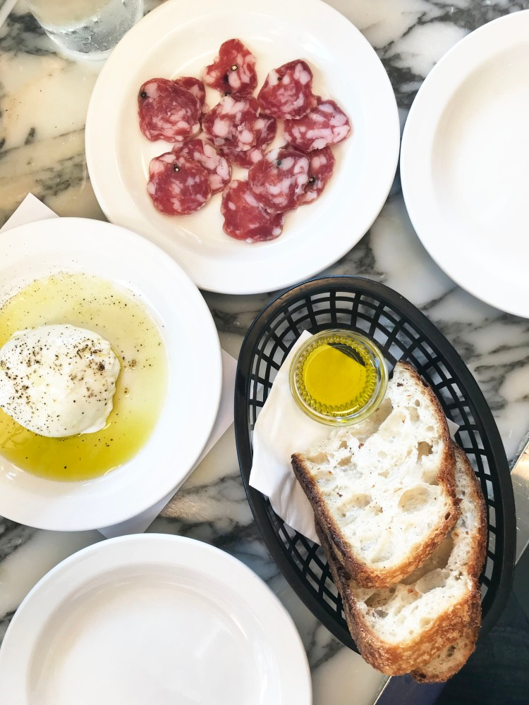 Burrata with Fiorano olive oil